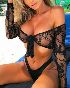 Off Shoulder  Lace Bikini
