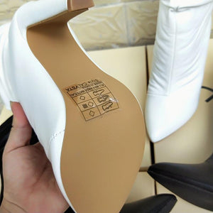 Fashion Ultra High Heel Sexy Pointed Sleeve Wild Mid-Tube Female Boots