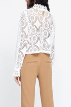 Load image into Gallery viewer, Band Collar  Decorative Lace  Lace Plain  Blouses