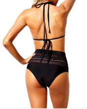 Load image into Gallery viewer, Halter  Backless  Hollow Out Plain Bikini