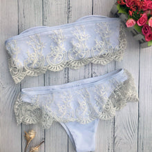 Load image into Gallery viewer, Decorative Lace  Lace Plain Bikini