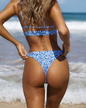 Load image into Gallery viewer, Spaghetti Strap  Backless  Printed Bikini