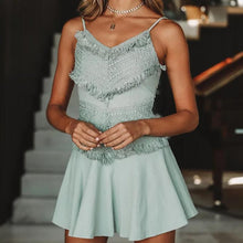 Load image into Gallery viewer, Sling Lace Stitching Sexy Dress
