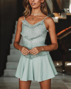 Sling Lace Stitching Sexy Dress