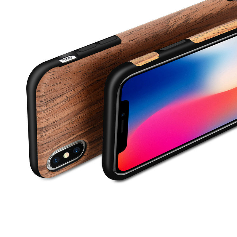 Wood-Grain mobile phone case for iphone X