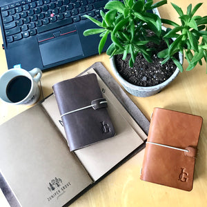 Micro Juniper Journal in Cognac JG edition