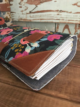 Load image into Gallery viewer, Les Fleurs Juniper Journal in Navy