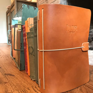 Genuine Leather Juniper Journal in Cognac