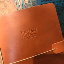 Load image into Gallery viewer, Genuine Leather Juniper Journal in Cognac