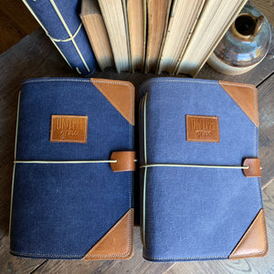 Navy Canvas Juniper Journal