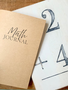 Math Journal Inserts