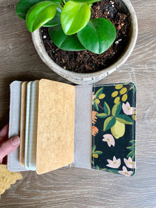 The Mini Pocket Journal in Black Citrus Blossom