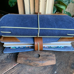 The Cedar Journal in Navy Canvas