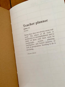 Teacher's Planner Insert