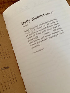 Daily Planner Journal Insert