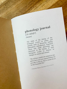 Phenology Journal Insert