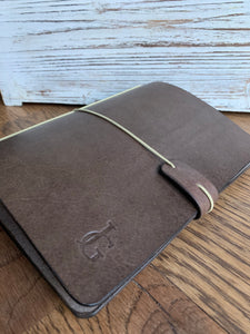 Genuine Leather Journal in Espresso