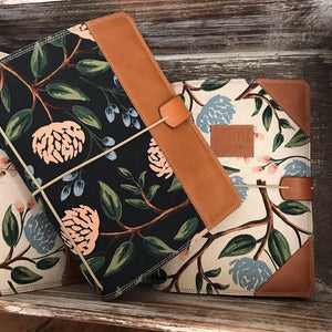 Peonies in Navy Cedar Journal