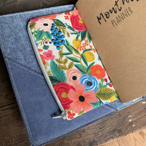 Harbor Blue Canvas Cedar Journal