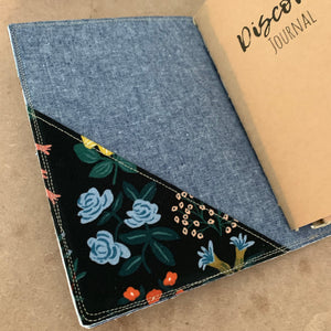 The Classic Juniper Journal in Wildflowers, Black