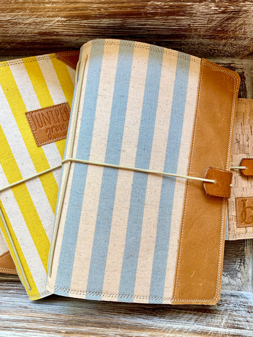 Cabana Stripe in Periwinkle Cedar Journal