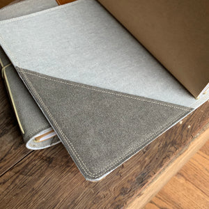 The Cedar Journal in Charcoal Canvas