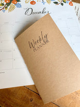 Load image into Gallery viewer, Weekly Planner Journal Insert