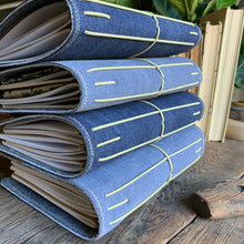Load image into Gallery viewer, Navy Canvas Cedar Journal