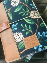 Load image into Gallery viewer, Peonies in Navy Cedar Journal