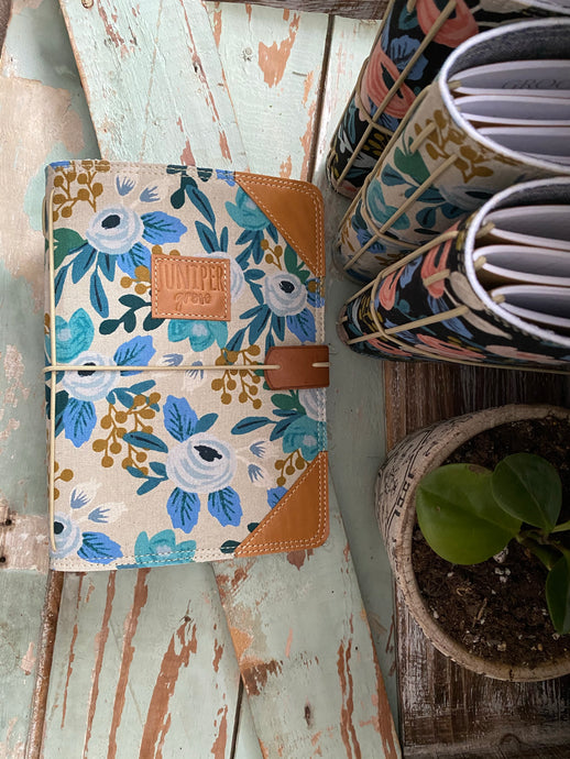 The Classic Juniper Journal in Blue Rosa