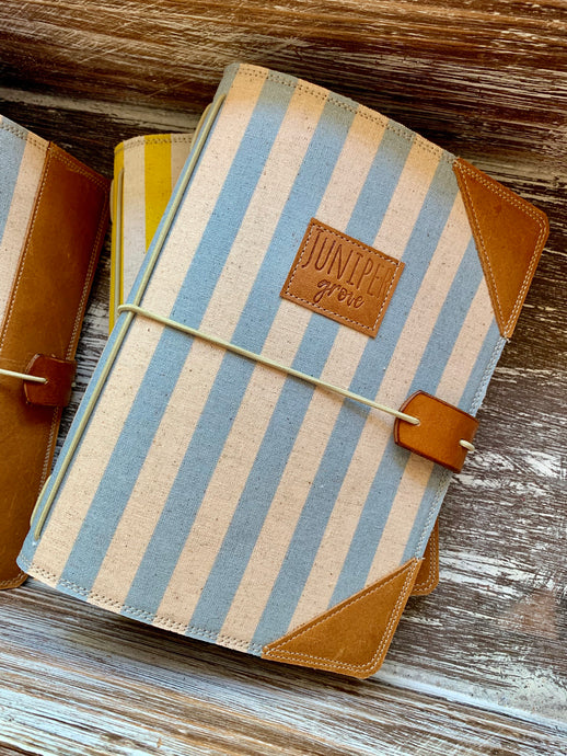 Cabana Stripe in Periwinkle Juniper Journal
