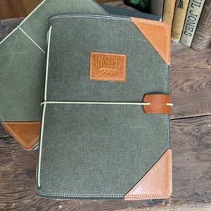 The Classic Juniper Journal in Deep Olive Canvas