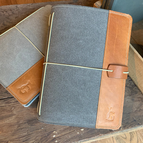 Charcoal Canvas Cedar Journal