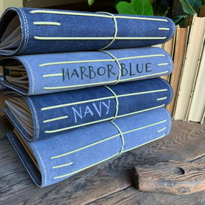 The Classic Juniper Journal in Navy Canvas