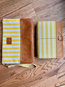 Cabana Stripe in Lemon Cedar Journal