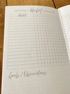 Habit Tracker Journal Insert