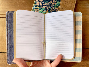 The Mini Pocket Journal in Periwinkle Cabana