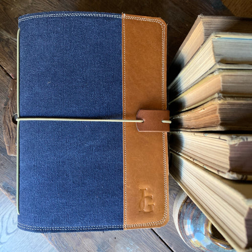 Navy Canvas Cedar Journal