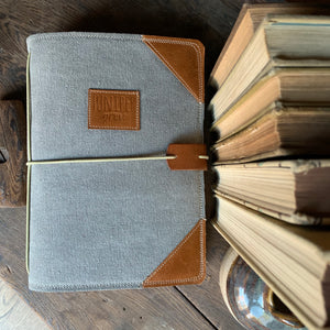 The Classic Juniper Journal in Steel Canvas
