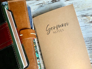 Sermon Notes Journal Insert