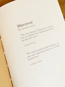Discover Journal Insert