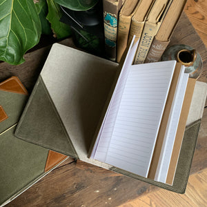 The Cedar Journal in Deep Olive Canvas