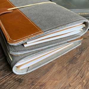 Steel Canvas Cedar Journal