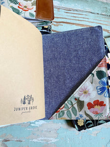 The Classic Juniper Journal in Natural Strawberry Fields