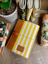 Load image into Gallery viewer, Cabana Stripe in Lemon Cedar Journal