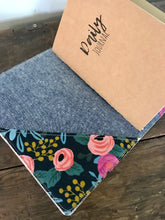 Load image into Gallery viewer, Les Fleurs (Navy) Cedar Journal