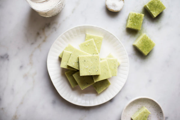 Matcha Green Tea Coconut Fudge Recipe
