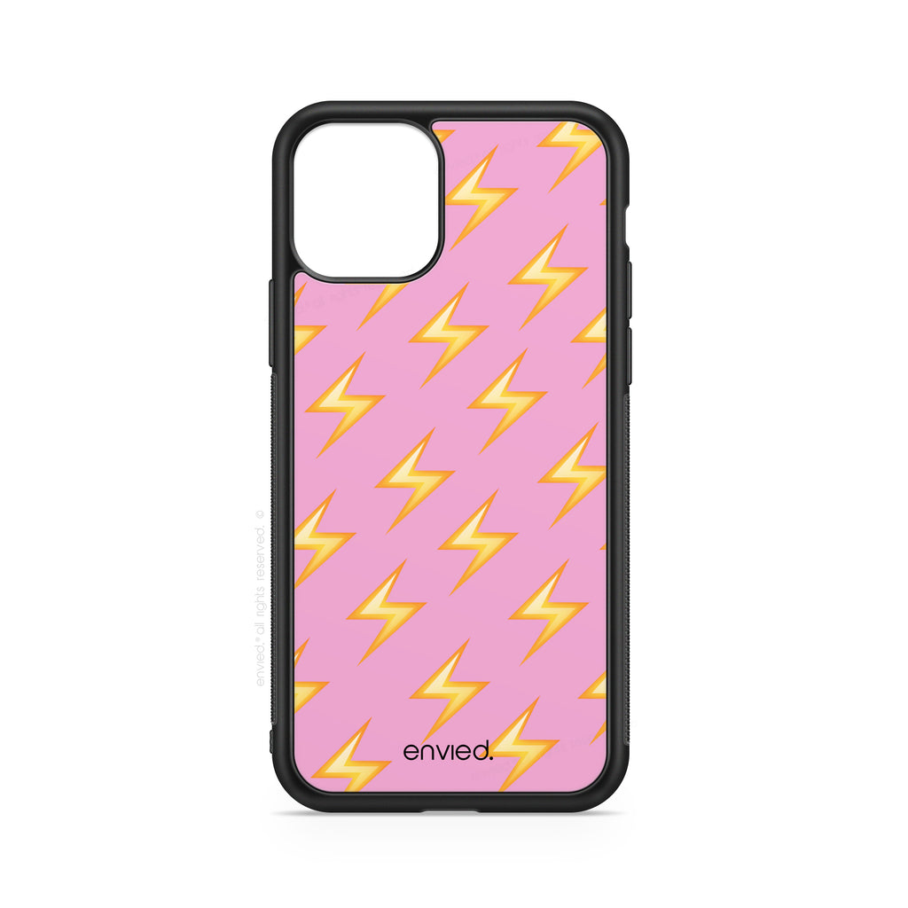 envied. girl power. lightning on pink