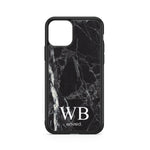 envied. noble initials on dark marble