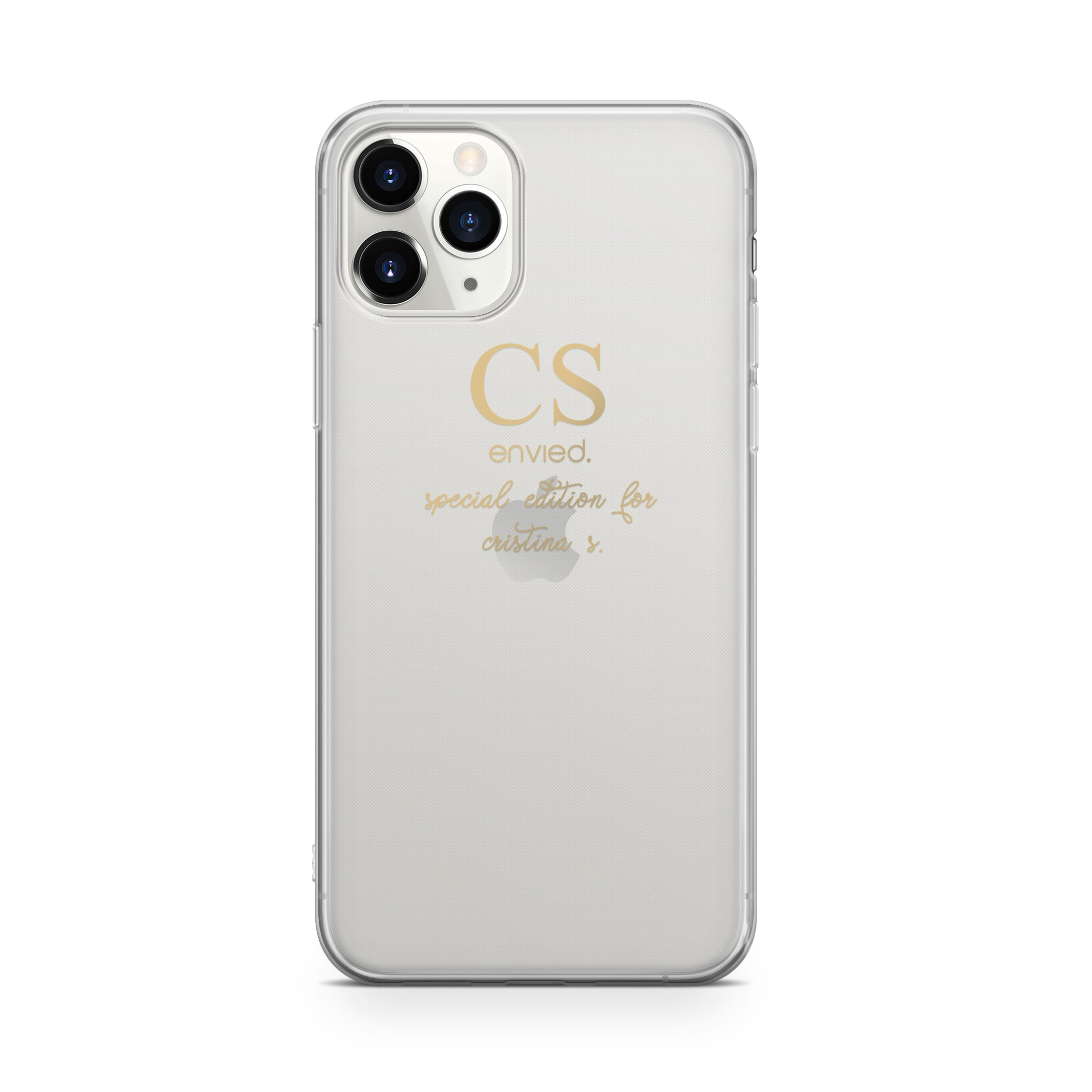 envied. precious gold initials case with special edition for iPhone